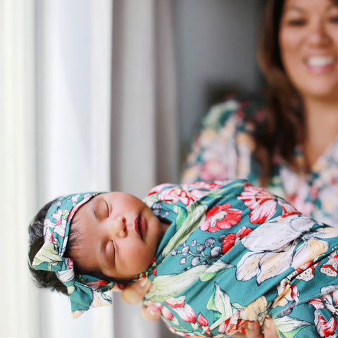Eden Swaddle Blanket & Headband Set