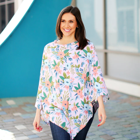 Blush Butterfly Nursing Poncho & Car Seat Cover