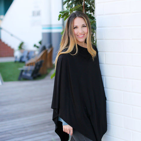 Black Nursing Poncho