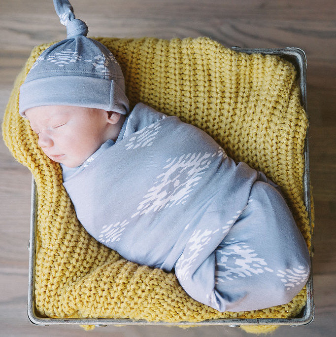 Desert Moon Swaddle Blanket and Hat Set