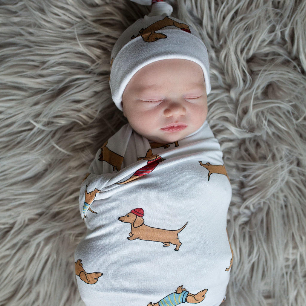 Doxie Swaddle and Hat Set