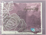 Rose Wonder Sympathy Card - Lastly Add Love - 2