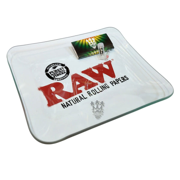 RAW Glass Rolling Tray X SMO-KING Gift Set