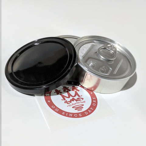 SMO-KING Cali ring pull Tins, press it in seal base 3.5g  pop top tuna type stash can
