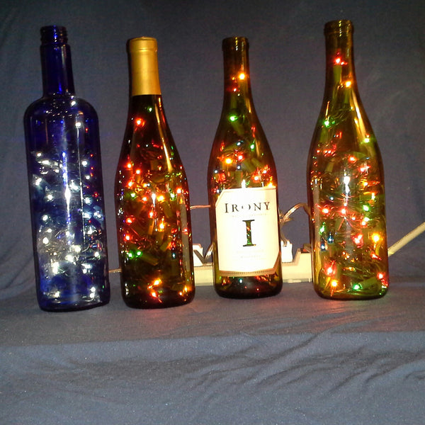 Recycled Wine Bottle - Wine Bottle Lights
