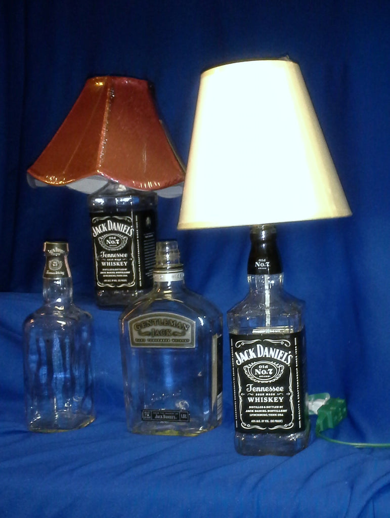 Recycled Liquor Bottle Lamp