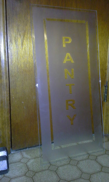 "Large Glass Surface - Glass Panel for ""PANTRY"" Door Insert."