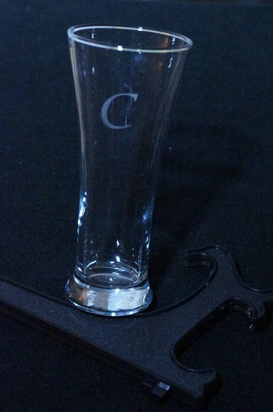"b_Drinking Glass with Etched  ""Initial"""