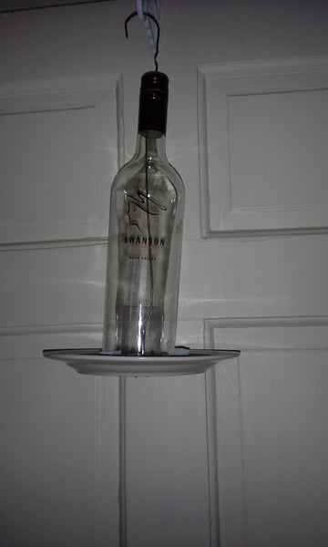 Recycled Wine Bottles - Bird Feeder