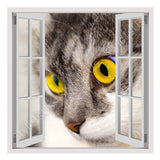 Fake 3D Window Cats eyes | Canvas, Posters, Prints & Stickers - StyleIsUS.com