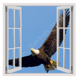 Fake 3D Window Eagle in the sky | Canvas, Posters, Prints & Stickers - StyleIsUS.com