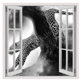 Fake 3D Window Leopard in the wild | Canvas, Posters, Prints & Stickers - StyleIsUS.com