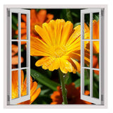 Fake 3D Window Daisy | Canvas, Posters, Prints & Stickers - StyleIsUS.com