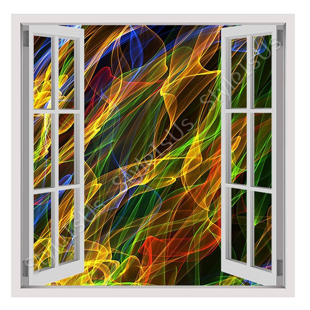 Fake 3D Window Abstract | Canvas, Posters, Prints & Stickers - StyleIsUS.com