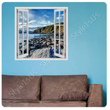 Fake 3D Window A Lake on the Coast | Canvas, Posters, Prints & Stickers - StyleIsUS.com