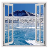 Fake 3D Window Antarctica | Canvas, Posters, Prints & Stickers - StyleIsUS.com