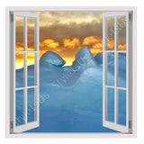 Fake 3D Window Arctic | Canvas, Posters, Prints & Stickers - StyleIsUS.com