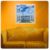 Fake 3D Window Pier in the Ocean | Canvas, Posters, Prints & Stickers - StyleIsUS.com
