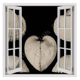 Fake 3D Window Sea Shells | Canvas, Posters, Prints & Stickers - StyleIsUS.com