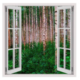 Fake 3D Window Trees in the forest | Canvas, Posters, Prints & Stickers - StyleIsUS.com