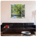 Fake 3D Window Waterfall | Canvas, Posters, Prints & Stickers - StyleIsUS.com