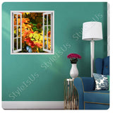 Fake 3D Window Golden Autumn | Canvas, Posters, Prints & Stickers - StyleIsUS.com