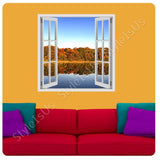 Fake 3D Window Nature in the Fall | Canvas, Posters, Prints & Stickers - StyleIsUS.com