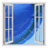 Fake 3D Window Hot Air Balloon | Canvas, Posters, Prints & Stickers - StyleIsUS.com