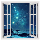 Fake 3D Window Romantic Blue Sky | Canvas, Posters, Prints & Stickers - StyleIsUS.com