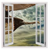 Fake 3D Window Seabird Flying in sky | Canvas, Posters, Prints & Stickers - StyleIsUS.com