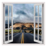 Fake 3D Window Californias Highway | Canvas, Posters, Prints & Stickers - StyleIsUS.com