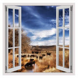 Fake 3D Window Californias Landscape | Canvas, Posters, Prints & Stickers - StyleIsUS.com