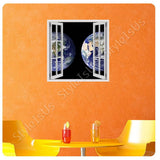 Fake 3D Window Continents on Earth | Canvas, Posters, Prints & Stickers - StyleIsUS.com