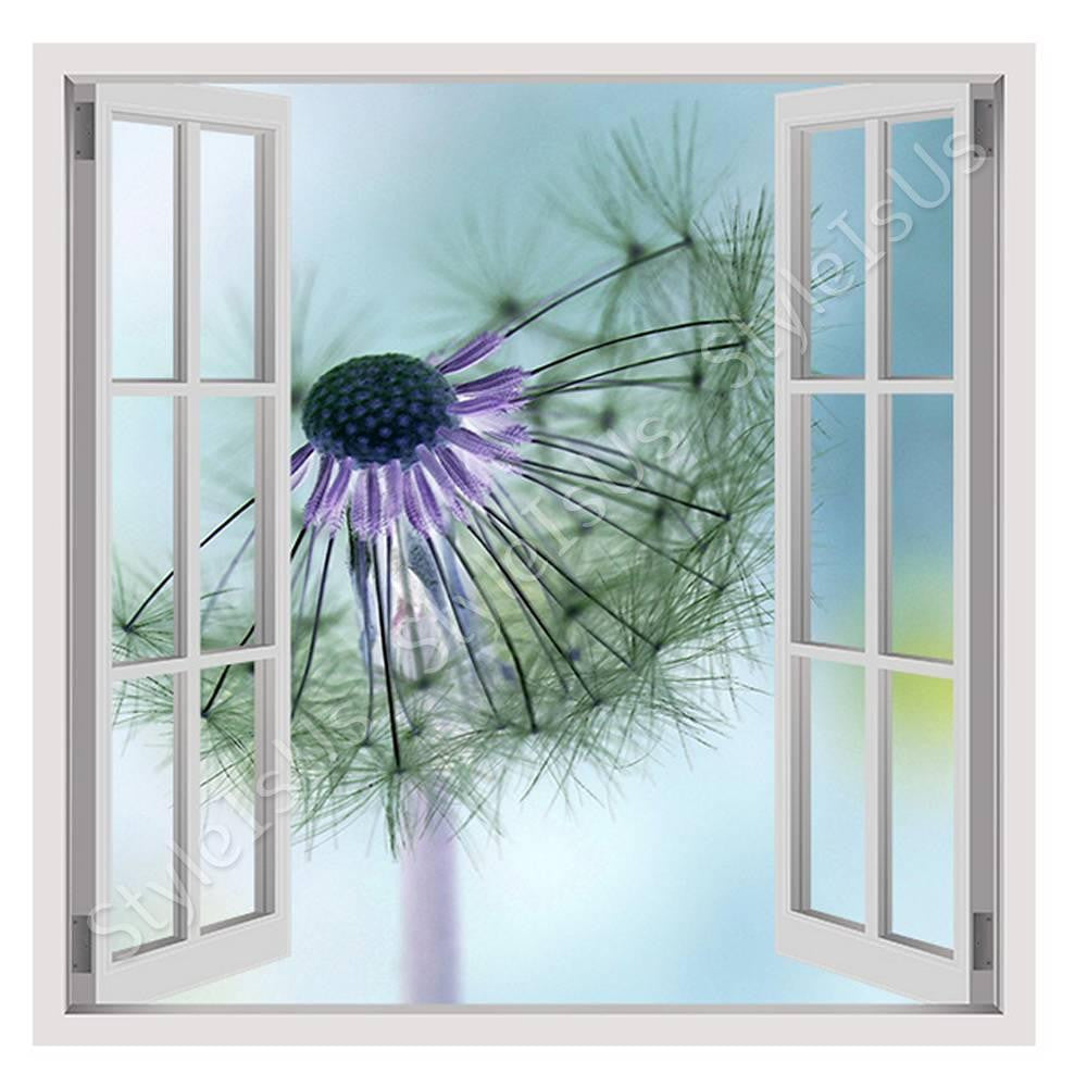 Fake 3D Window Dandelion | Canvas, Posters, Prints & Stickers - StyleIsUS.com