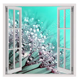 Fake 3D Window Dandelion seeds | Canvas, Posters, Prints & Stickers - StyleIsUS.com