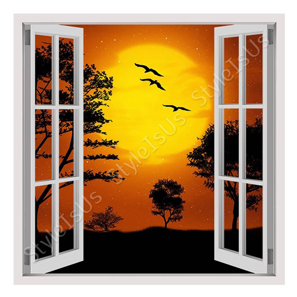 Fake 3D Window Digital Art Africa | Canvas, Posters, Prints & Stickers - StyleIsUS.com
