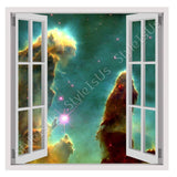 Fake 3D Window Digital Art Starry | Canvas, Posters, Prints & Stickers - StyleIsUS.com