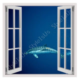 Fake 3D Window Dolphin in Marine | Canvas, Posters, Prints & Stickers - StyleIsUS.com