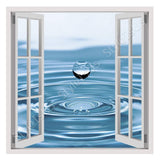Fake 3D Window Drop of Water | Canvas, Posters, Prints & Stickers - StyleIsUS.com