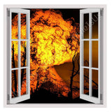 Fake 3D Window Explosion of Fire | Canvas, Posters, Prints & Stickers - StyleIsUS.com