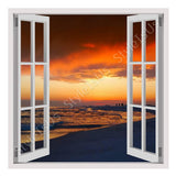Fake 3D Window Florida Oceans Sunset | Canvas, Posters, Prints & Stickers - StyleIsUS.com