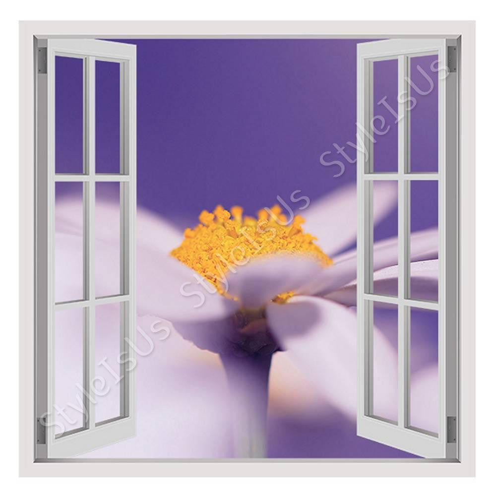 Fake 3D Window Flower on Macro Lens | Canvas, Posters, Prints & Stickers - StyleIsUS.com