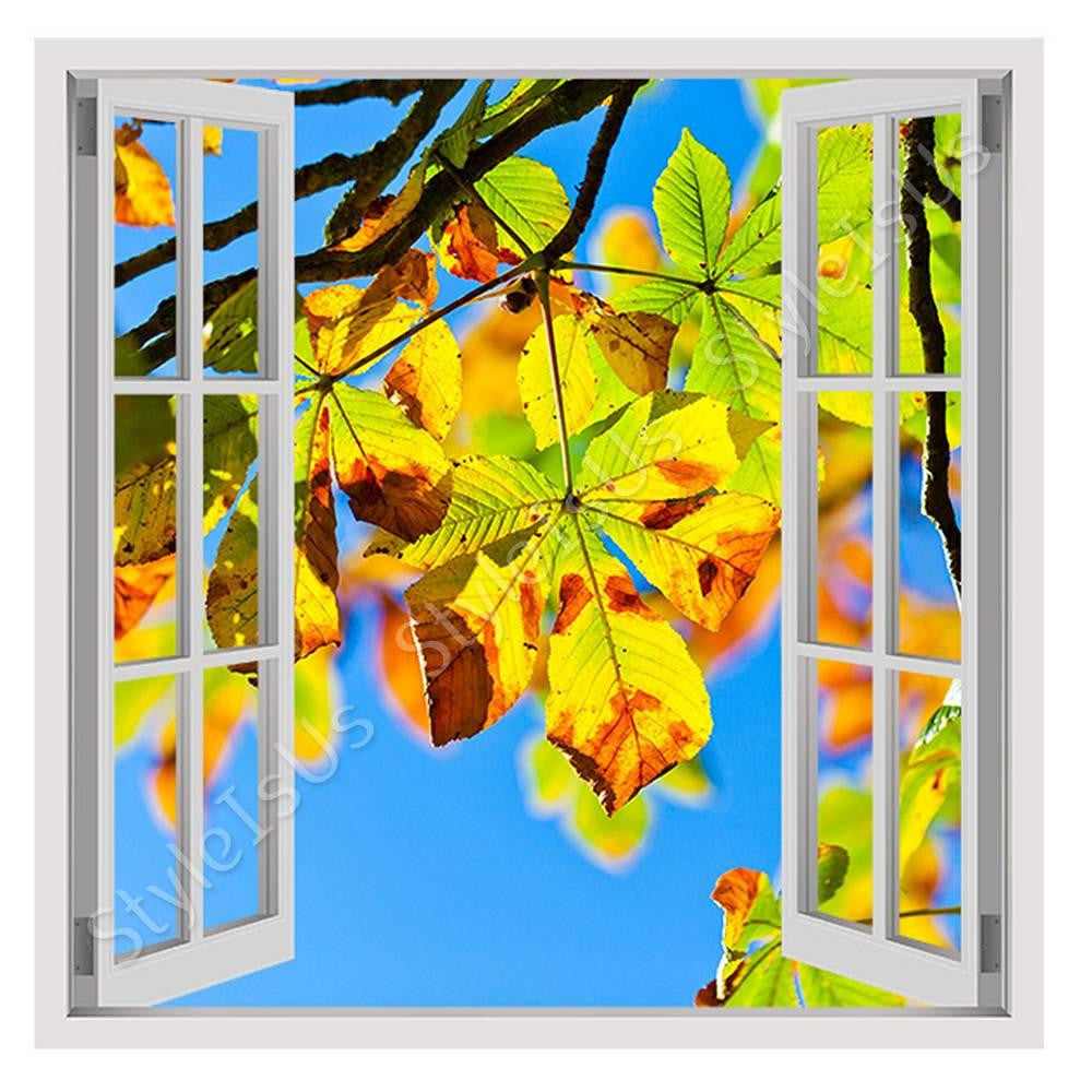 Fake 3D Window Horse Chestnut Tree | Canvas, Posters, Prints & Stickers - StyleIsUS.com
