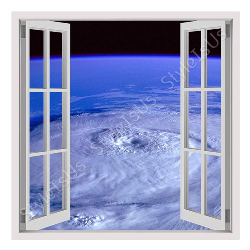 Fake 3D Window Hurricane On Earth | Canvas, Posters, Prints & Stickers - StyleIsUS.com