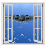 Fake 3D Window Military Aircraft | Canvas, Posters, Prints & Stickers - StyleIsUS.com