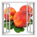 Fake 3D Window Organic Nectarine | Canvas, Posters, Prints & Stickers - StyleIsUS.com