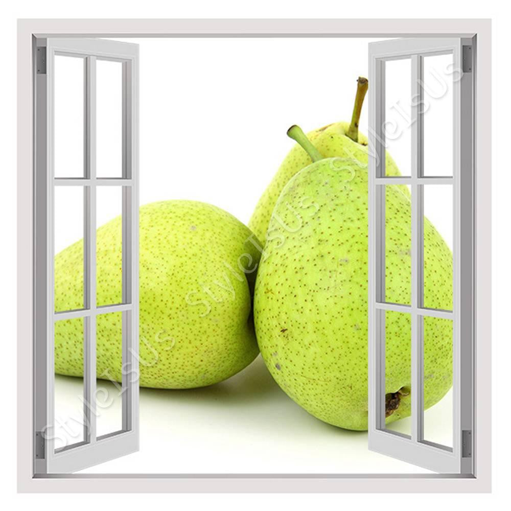 Fake 3D Window Organic Pear | Canvas, Posters, Prints & Stickers - StyleIsUS.com
