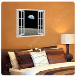 Fake 3D Window Planet Earth from Moon | Canvas, Posters, Prints & Stickers - StyleIsUS.com