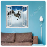 Fake 3D Window Seagull in the Sky | Canvas, Posters, Prints & Stickers - StyleIsUS.com