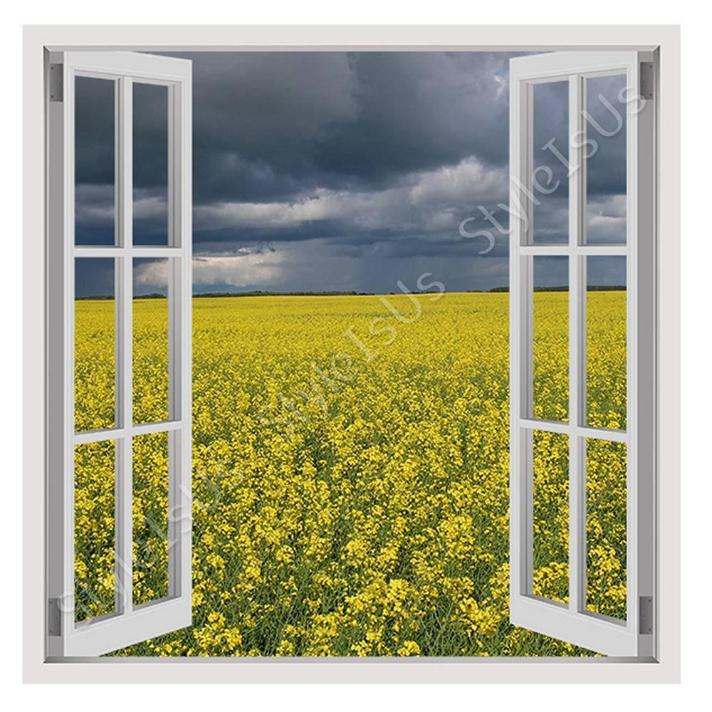Fake 3D Window Spring in France | Canvas, Posters, Prints & Stickers - StyleIsUS.com